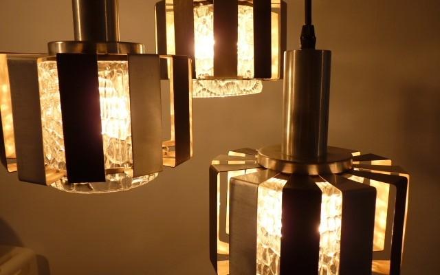 3 lamps cascade lamp, 60s