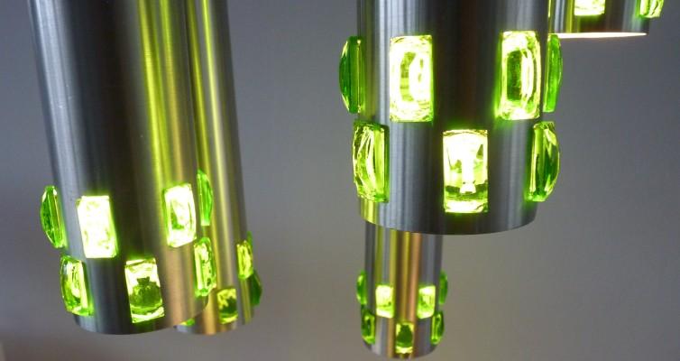 Smaragd groene ornamenten